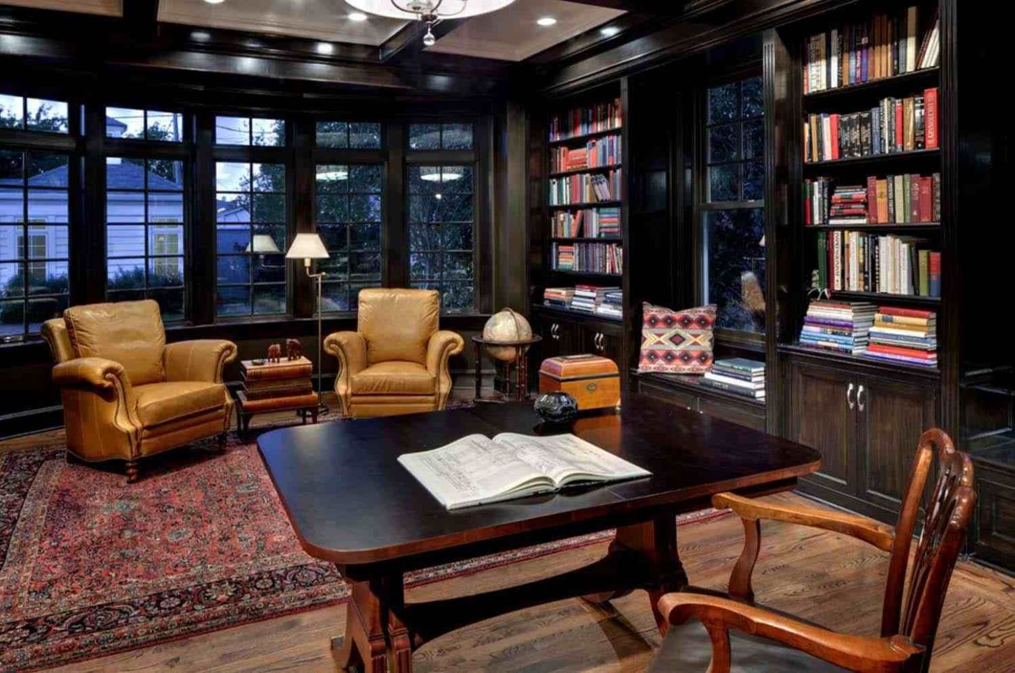 Home Office Library Design Ideas Modern Home Office Library ..