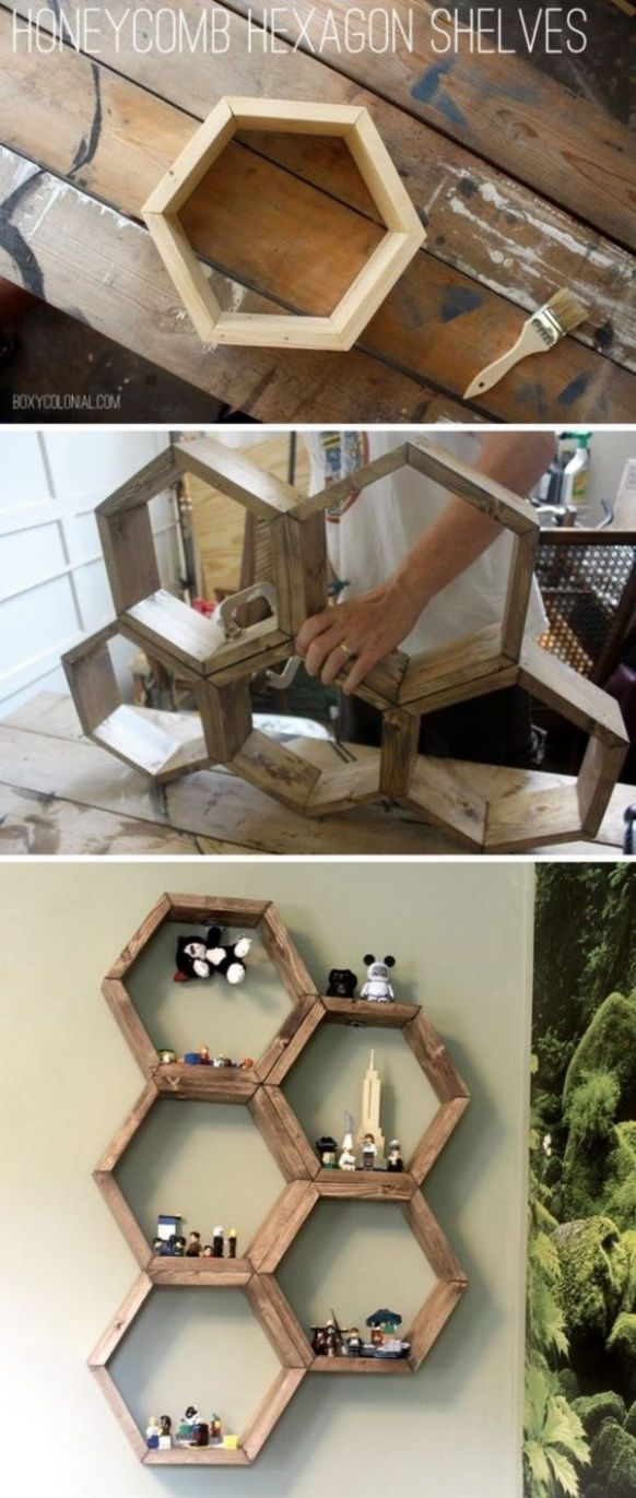 Honeycomb shelves - 10 Easy WoodWorking Projects and Ideas for ..