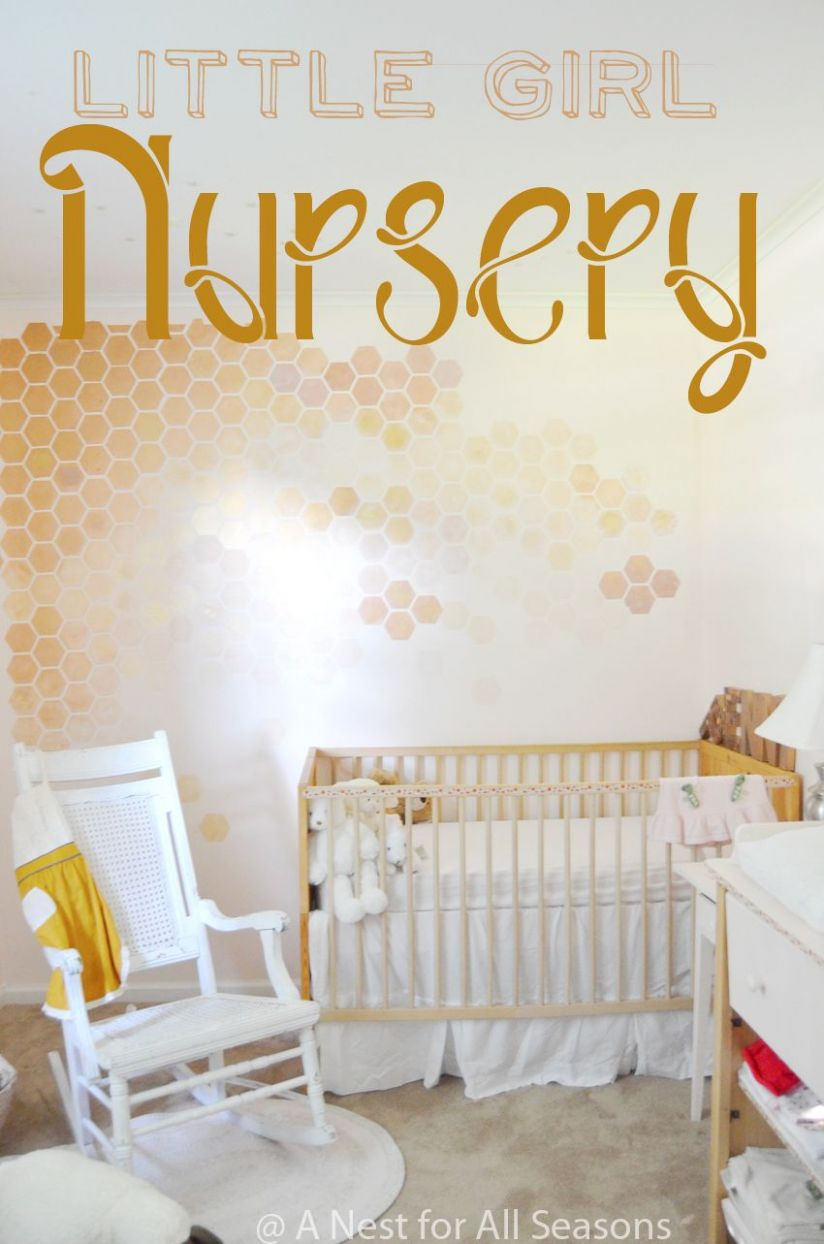 Honeycomb Wall Stencil DIY -- STEP 9 to a Girly Nursery! (With ..