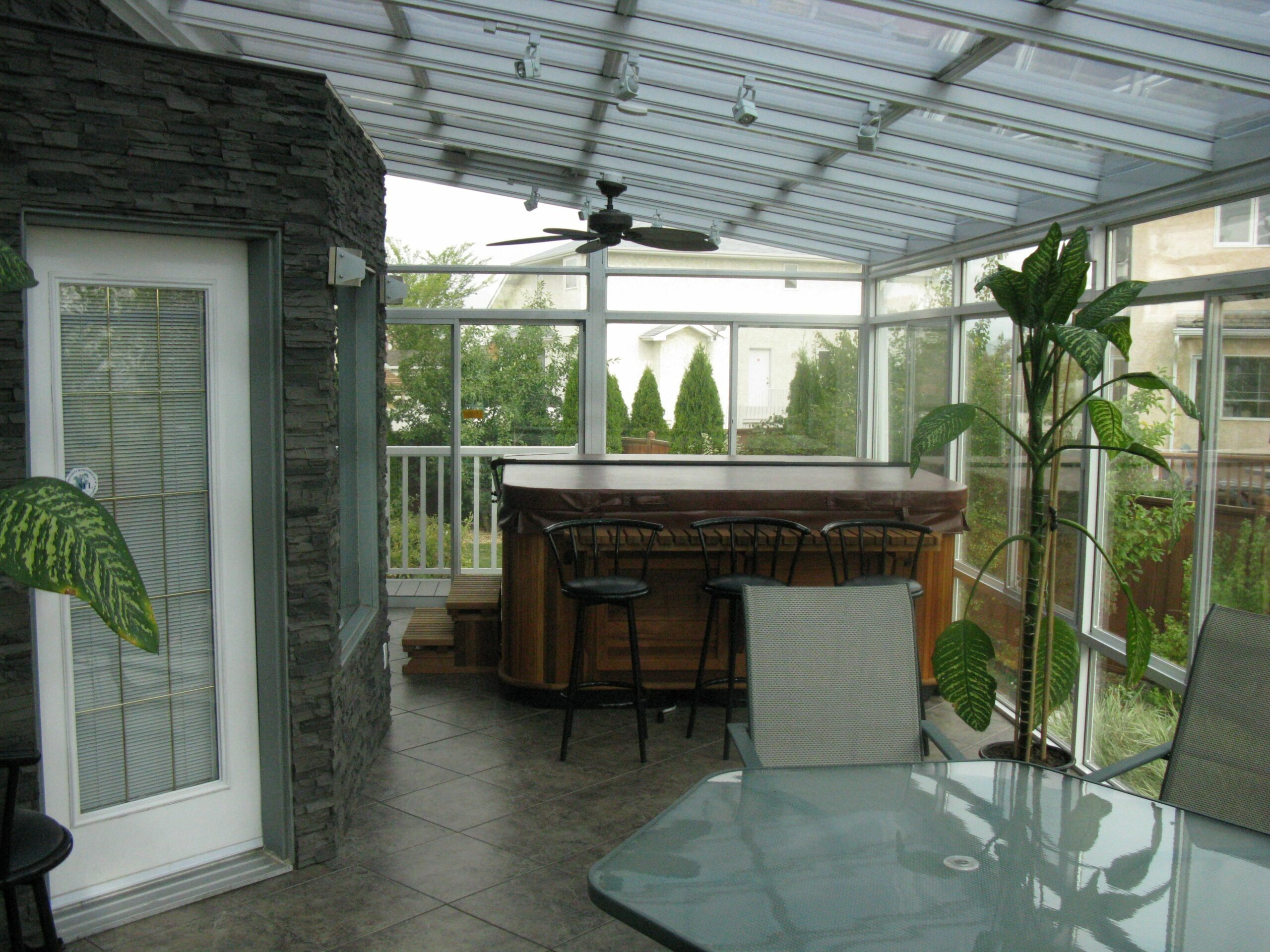 Hot tub in a sunroom is a common request. Will it heat the room ..