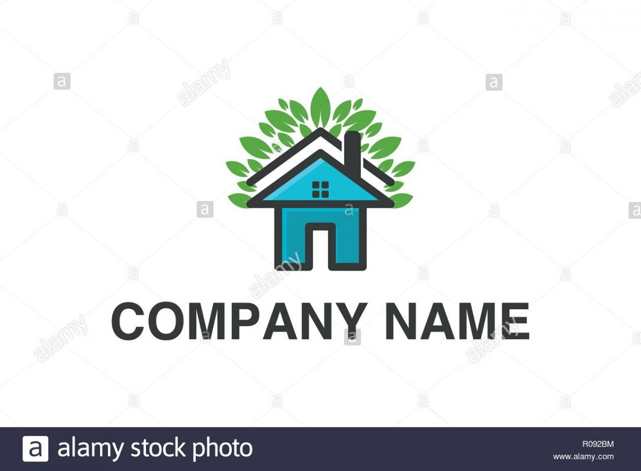 House home and leaf Logo Designs Inspiration Isolated on White ..