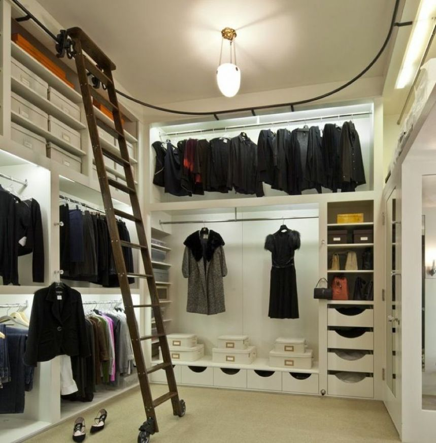 House Ideas A Designer Closet With A Library Ladder In It Eric ...