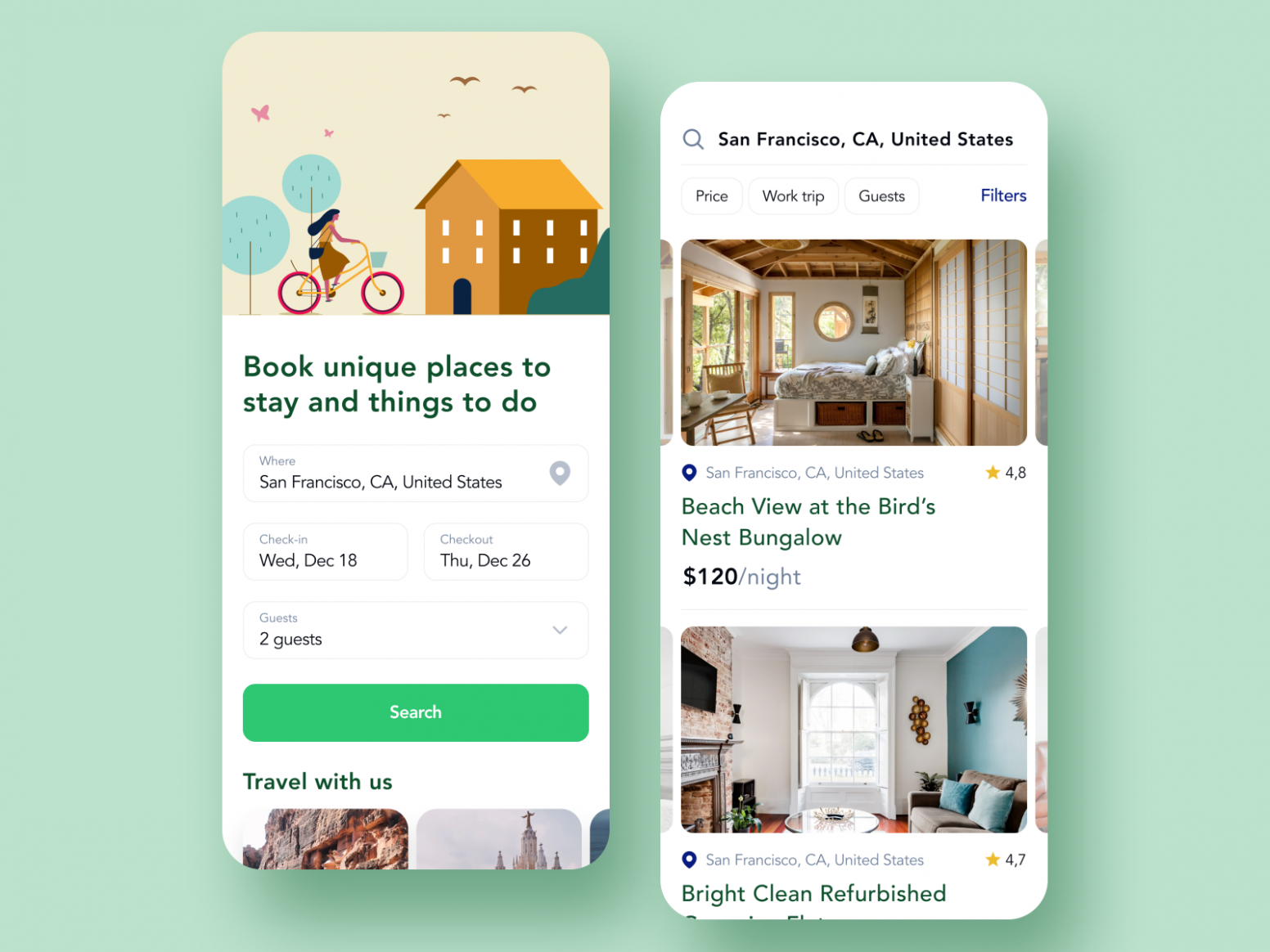 House Renting App For Travelers by Ilya Sablin on Dribbble