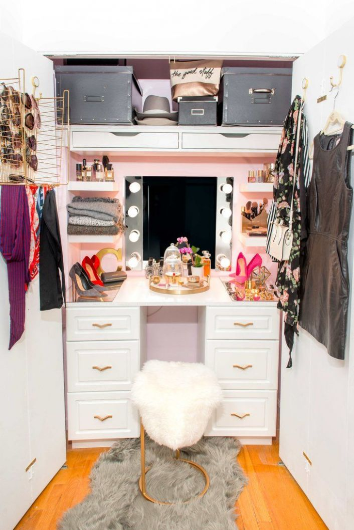 How an Apartment-Dweller Turned Her Small Closet Into a Glam ..