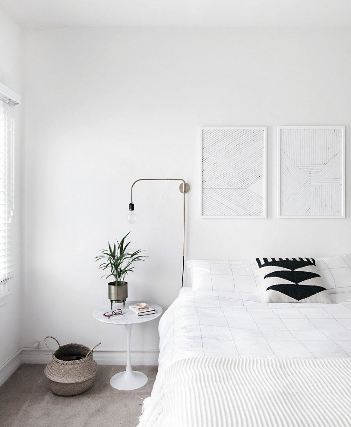How to Achieve a Minimal Scandinavian Bedroom - Homey Oh My - bedroom ideas minimalist