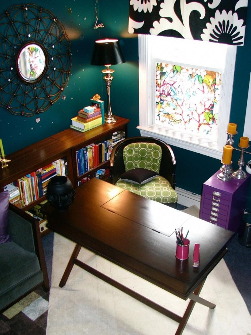 How to Create a Colorful and Eclectic Home Office - eclectic home office ideas