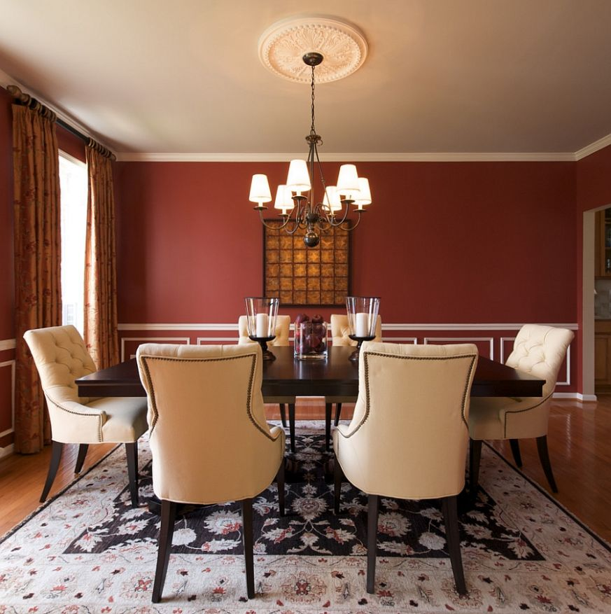 How to Create a Sensational Dining Room with Red Panache - dining room ideas red