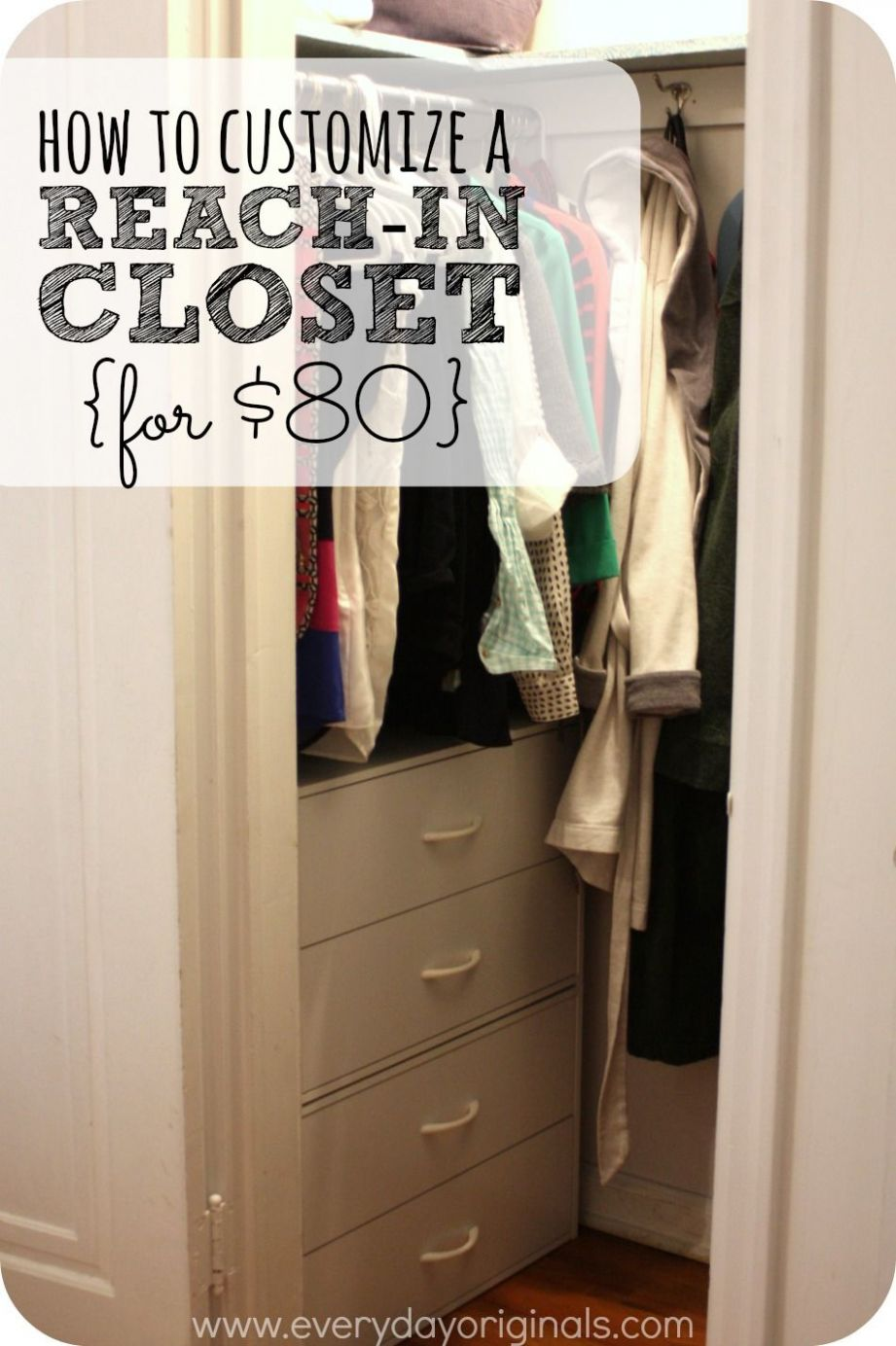 how to customize a reach-in closet for $8 (With images) | Small ...