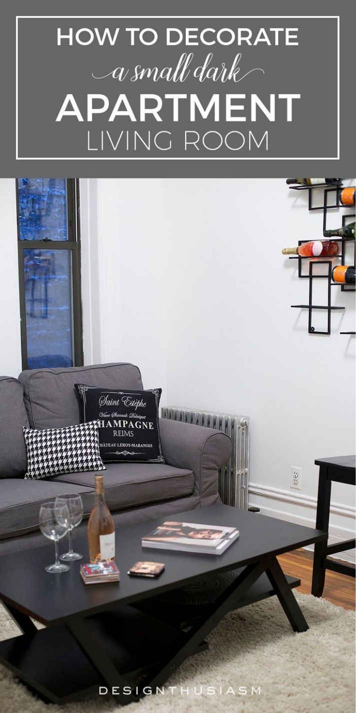 How to Decorate a Small Dark Living Room | Dark living rooms ...