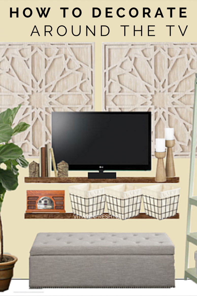 How to Decorate Around a TV (With images) | Decor around tv ..