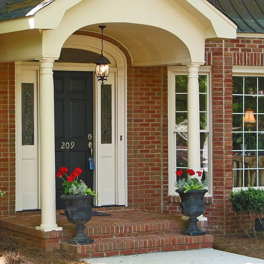 How to Decorate Brick Front Porches : Gorgeous Front Porch ...
