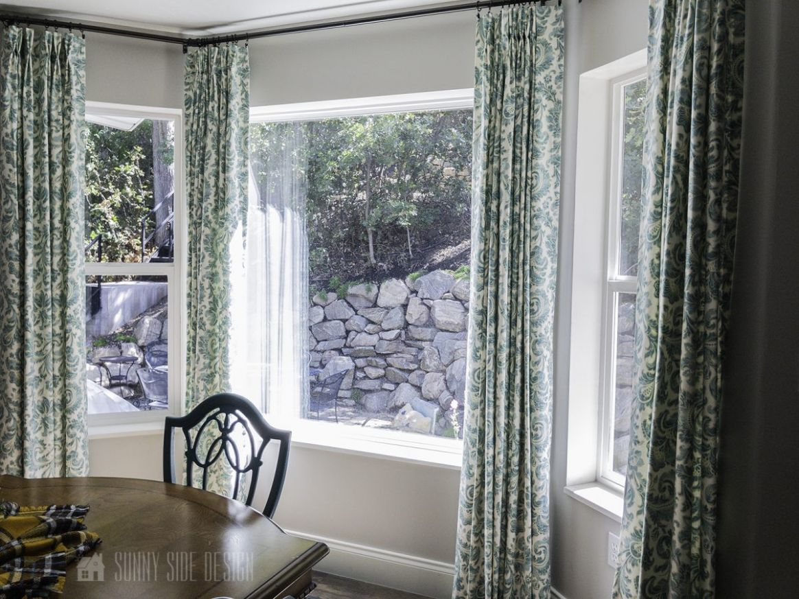 How To DIY Your Own Bay Window Curtain Rod | Sunny Side Design - window rod ideas
