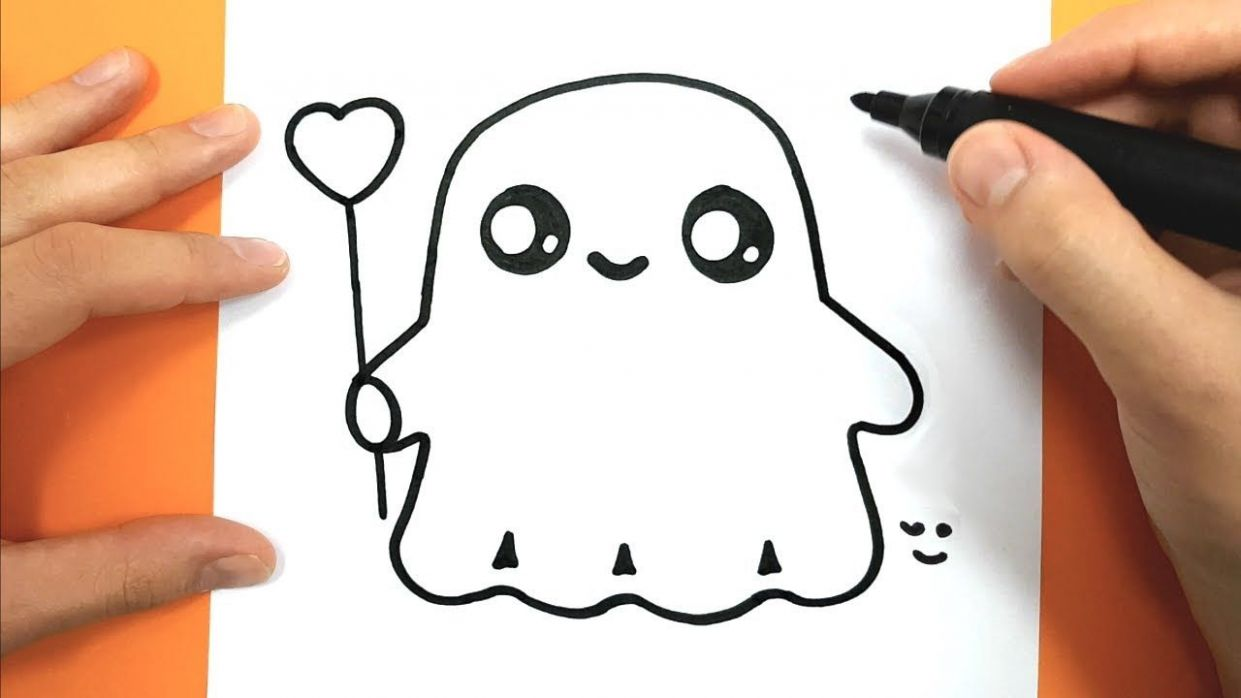 How to Draw and color a cute ghost - Easy Drawing Tutorial ..