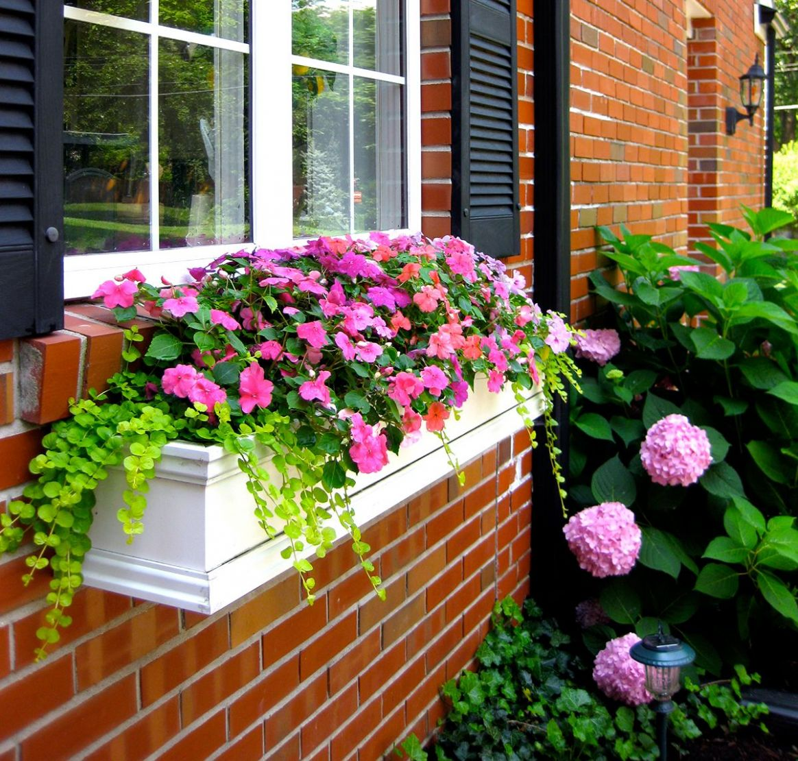 How to Hang Window Boxes the Right Way (With images) | Window box ...