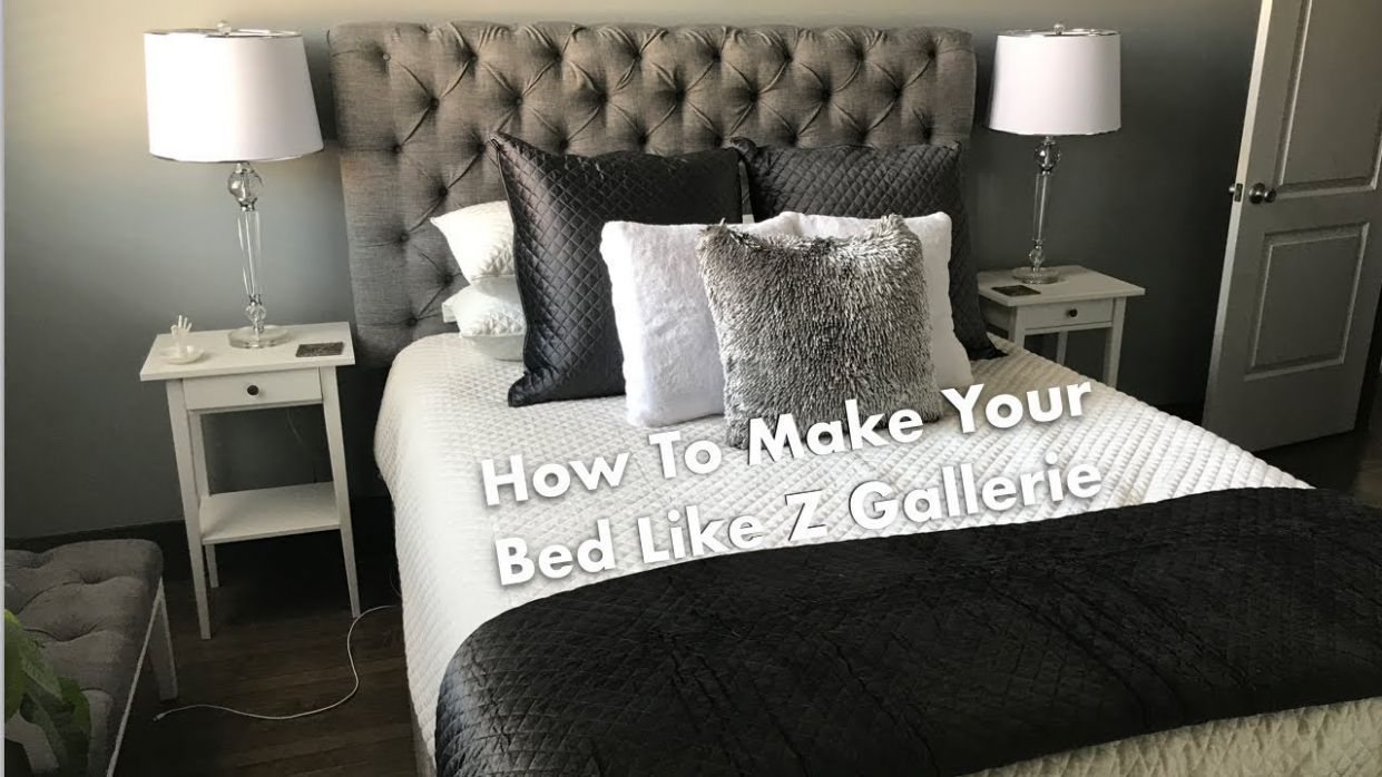 HOW TO MAKE A BED LIKE Z GALLERIE! - z gallerie bedroom ideas