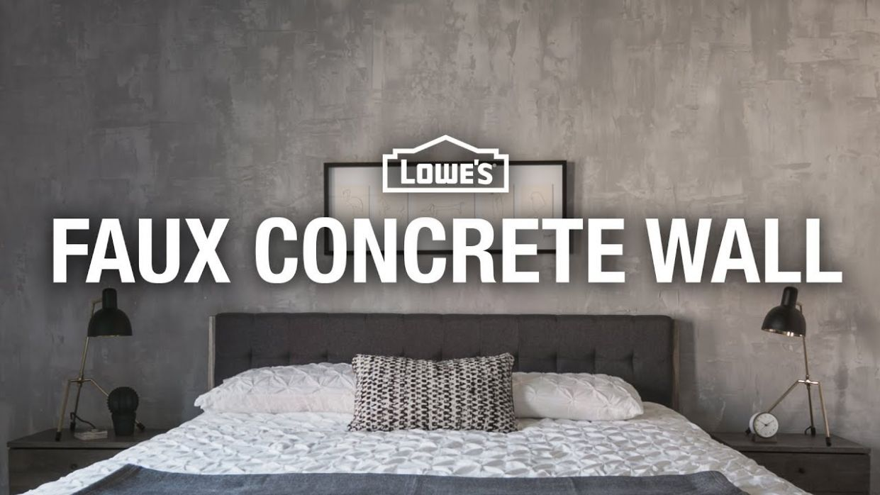 How to Make a Faux Concrete Wall - diy home decor how to paint a faux concrete wall finish