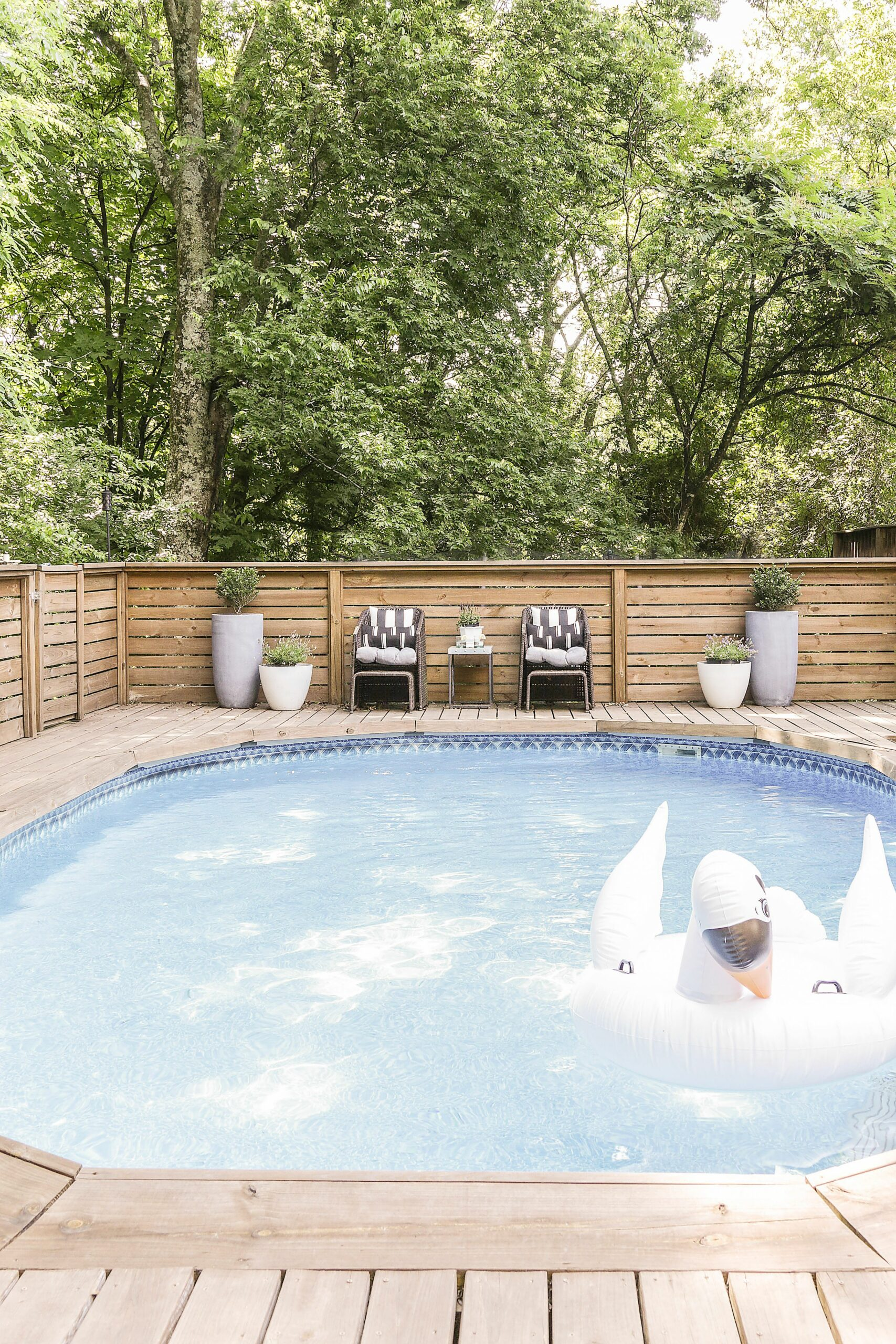 How to Make an Above Ground Pool Look Inground - Pool Deck Ideas - pool update ideas