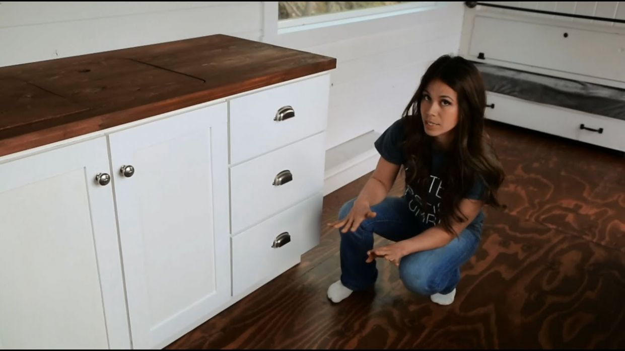How to Make Kitchen Cabinets with Tiny House Kitchen Tour: Ana White Tiny  House Build [Episode 8] - tiny house kitchen cabinets