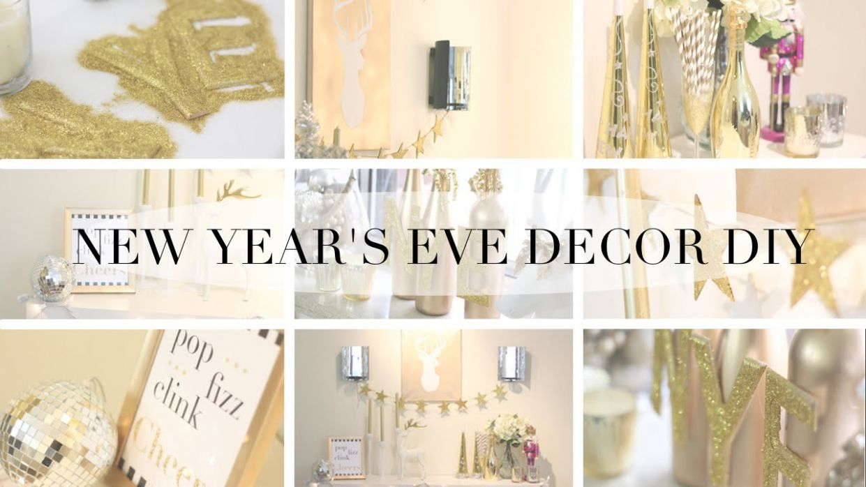 HOW TO: New Years Eve Party DIY Decor - diy home decor for new year