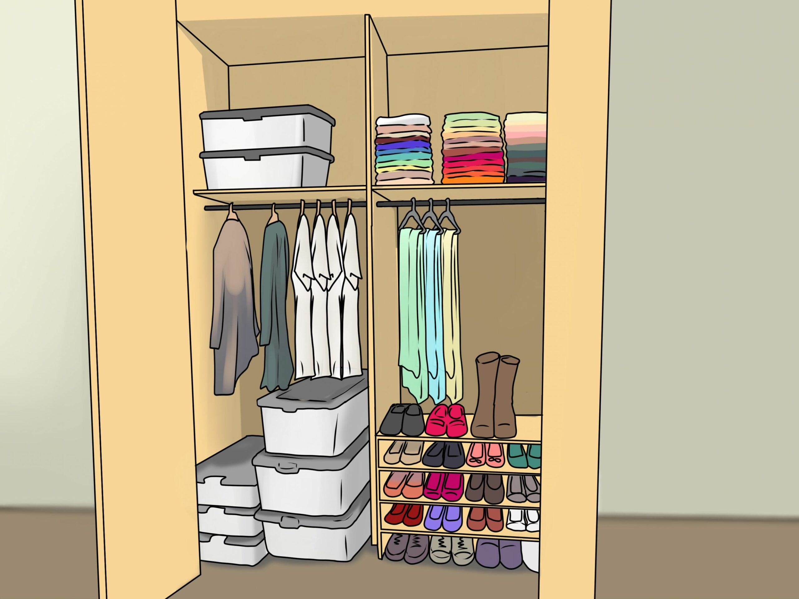How to Organize Your Closet: 11 Steps (with Pictures) - wikiHow - external closet ideas