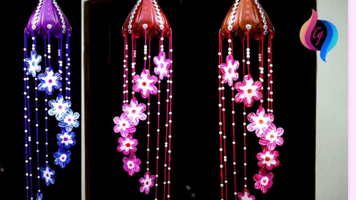 How to recycle plastic bottles at home - DIY - Wind chime out of plastic  bottle - diy home decor using plastic bottles