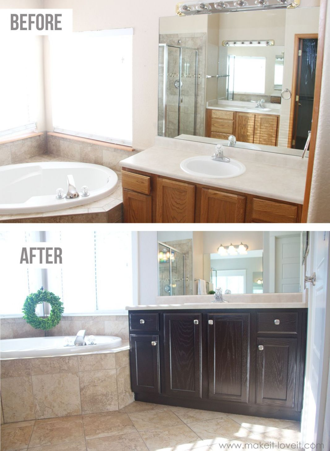 How to Stain OAK Cabinets…the simple method (without sanding ..