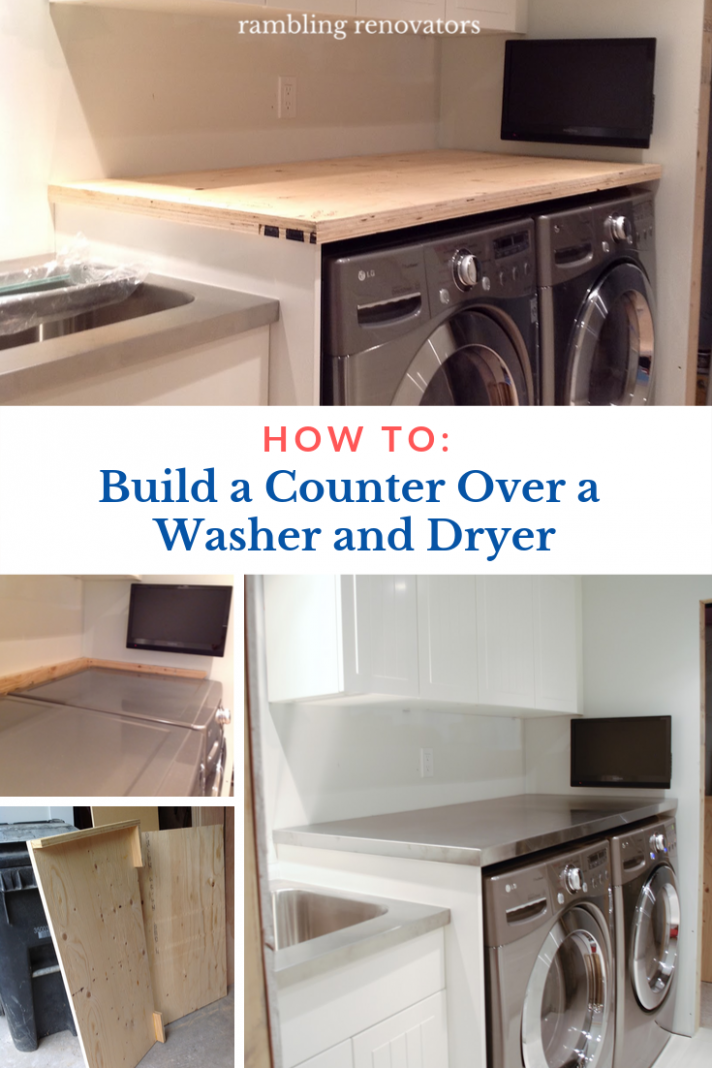 How To Support A Laundry Room Countertop Over A Washer And Dryer ..
