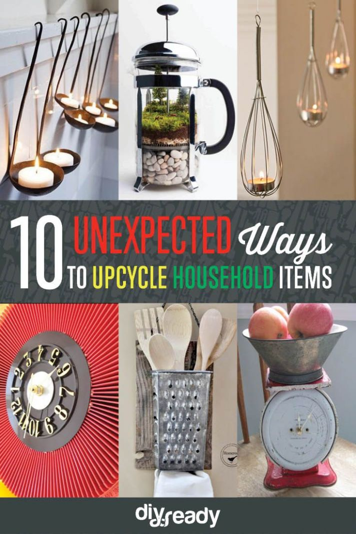 How to Upcycle Old Items | Household items, Upcycle home, Upcycle ..