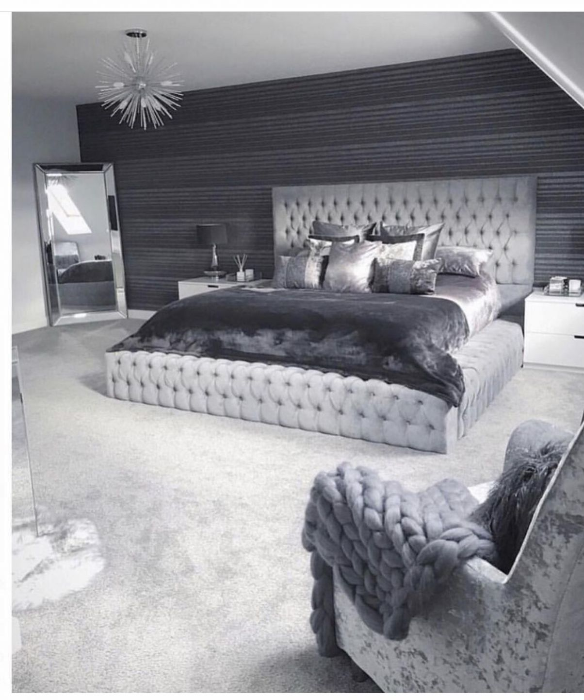I like the uphoustered bed frame that surrounds the bed | Cozy ..