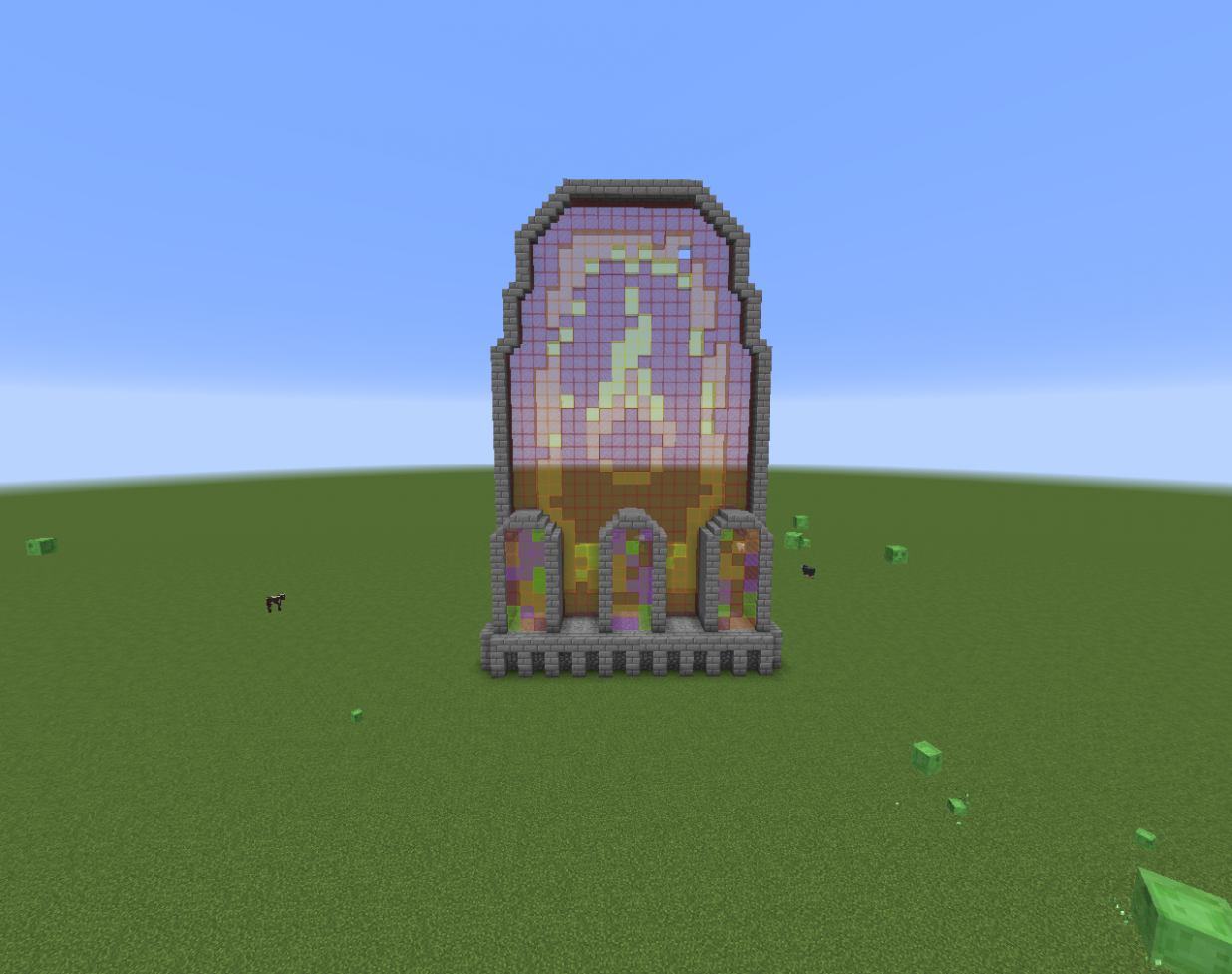 I'm making a castle of fire! This is going to be apart of the main ...