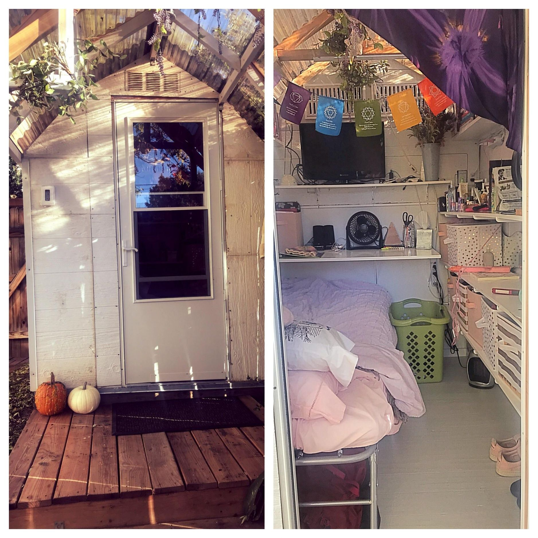 I moved into a fixed up shed after a TBI to simplify life in pre ..