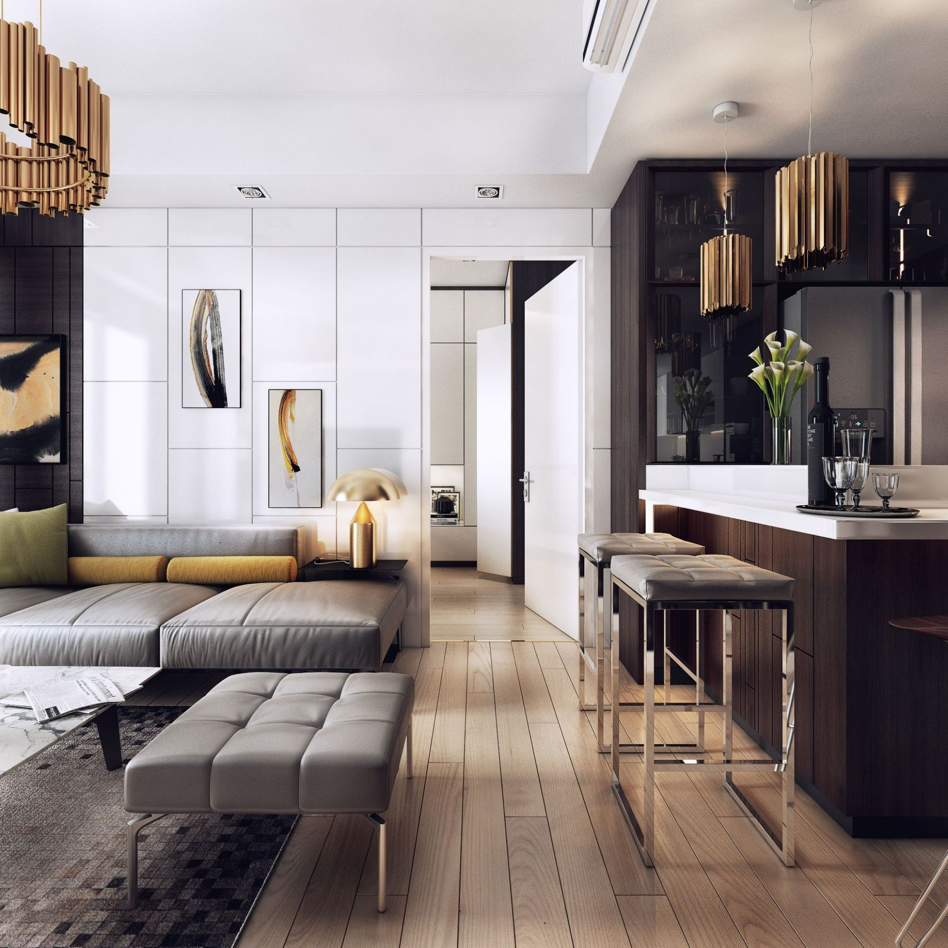 I really like the apartments of this type, with the space there is ...