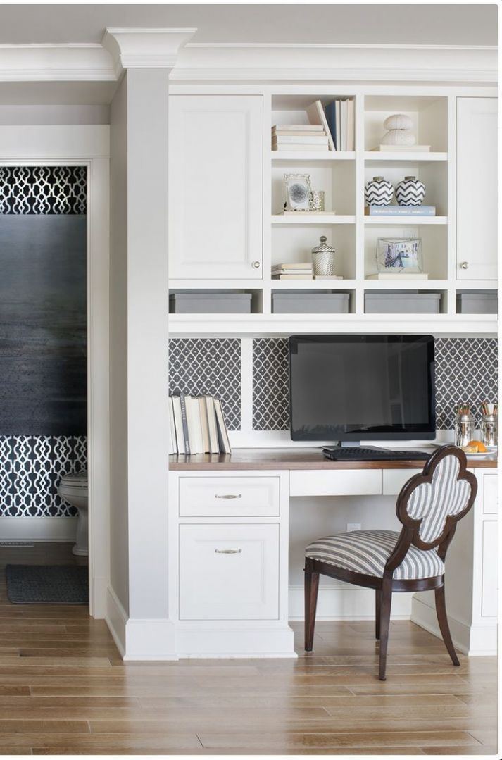 If possible, have a work station in kitchen | Home office space ..