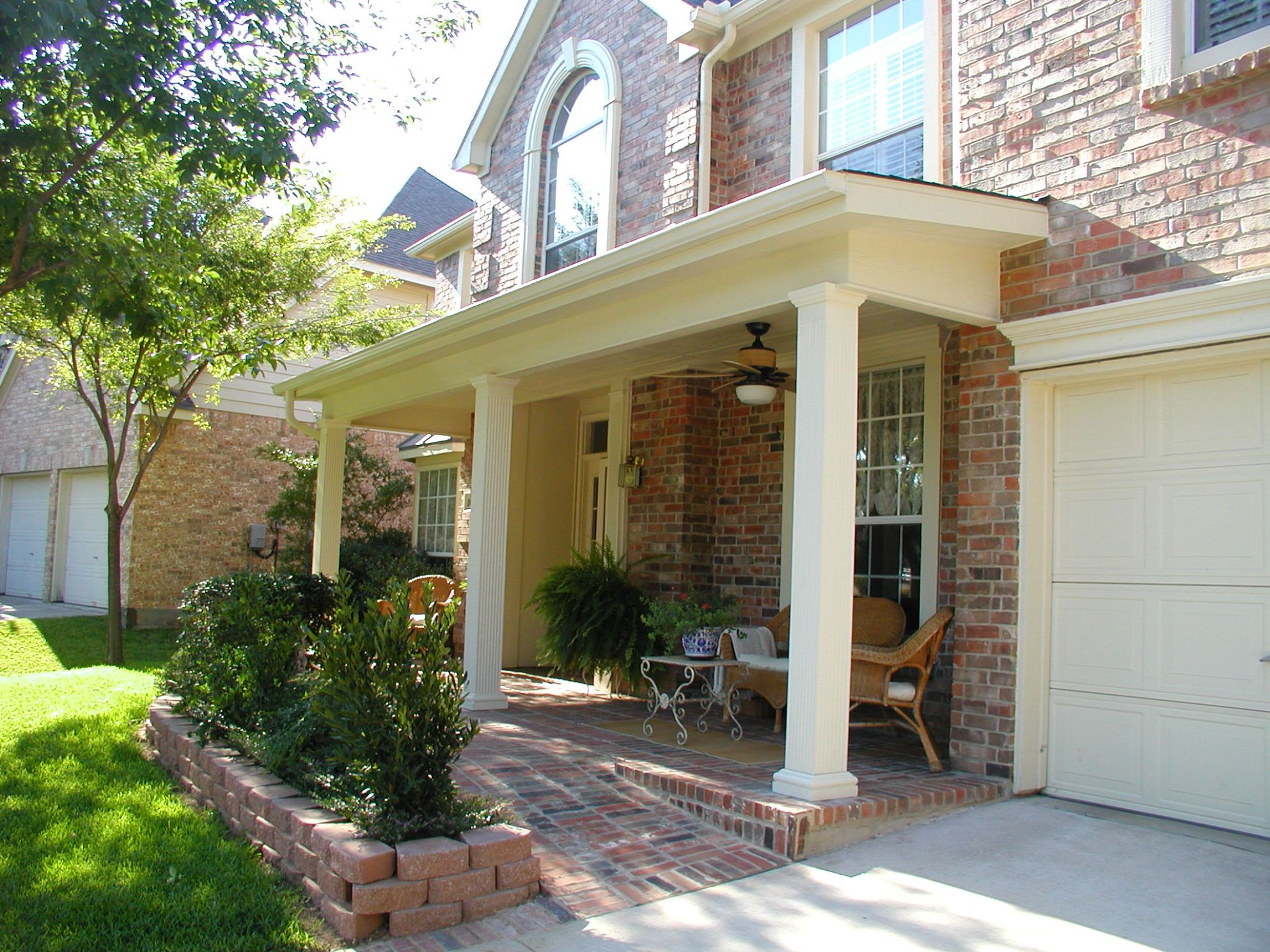 Image Of Small House Front Porch Designs White Chic Latest Porches ..