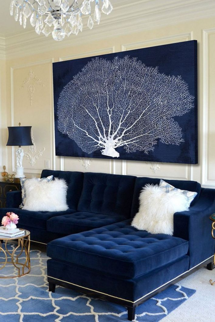 Image result for glam living room ideas (With images) | Blue couch ..