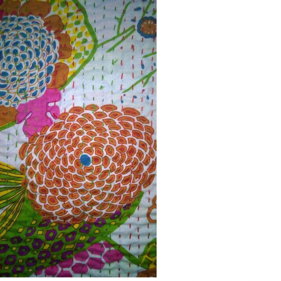 Indian Theme Kantha Quilts In Colourful Patterns Suitable For Home ..