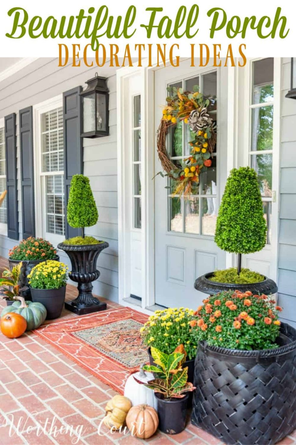 Inspiring Front Porch Decor Ideas For Fall | Worthing Court