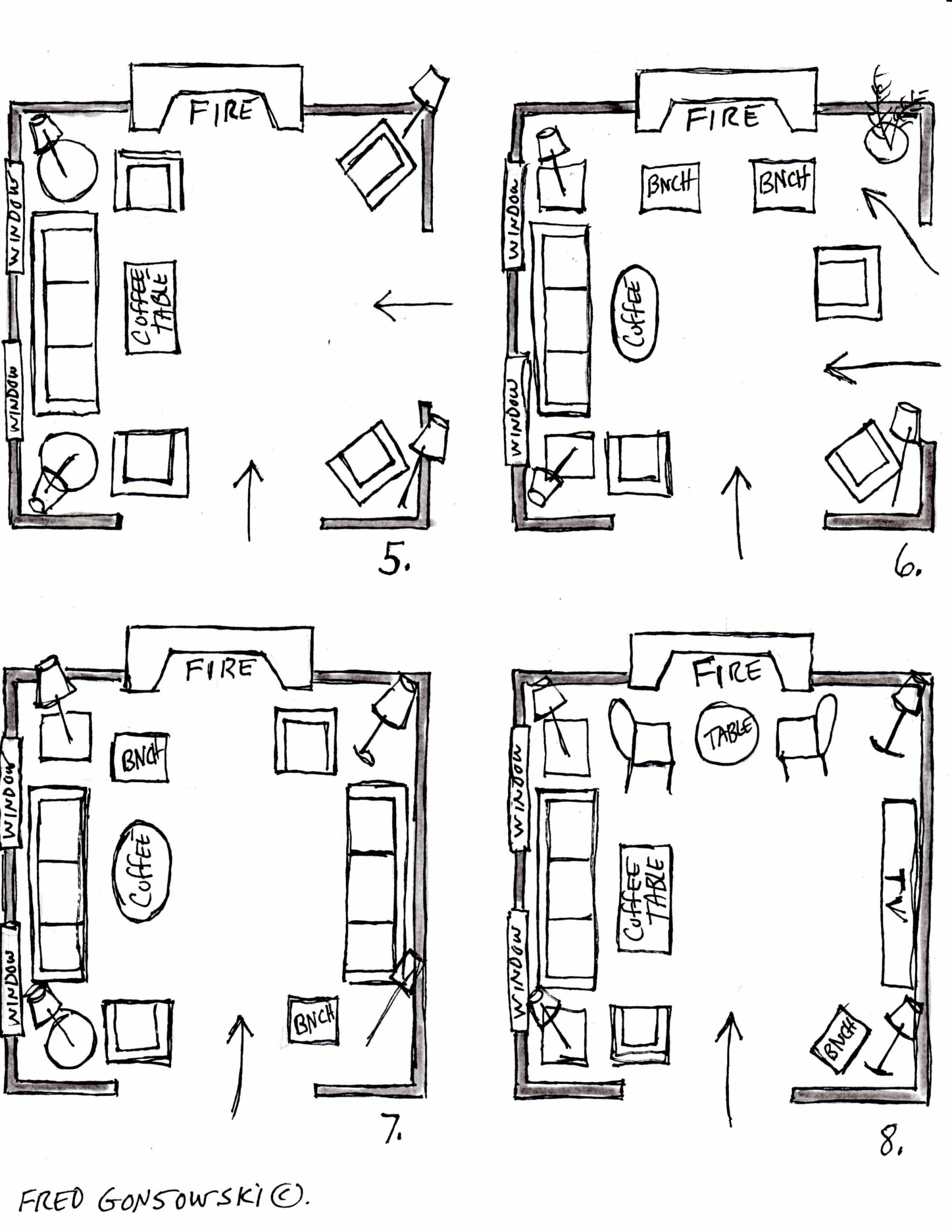 It's EASY to Arrange Furniture in a Square Living Room, some Ideas ...