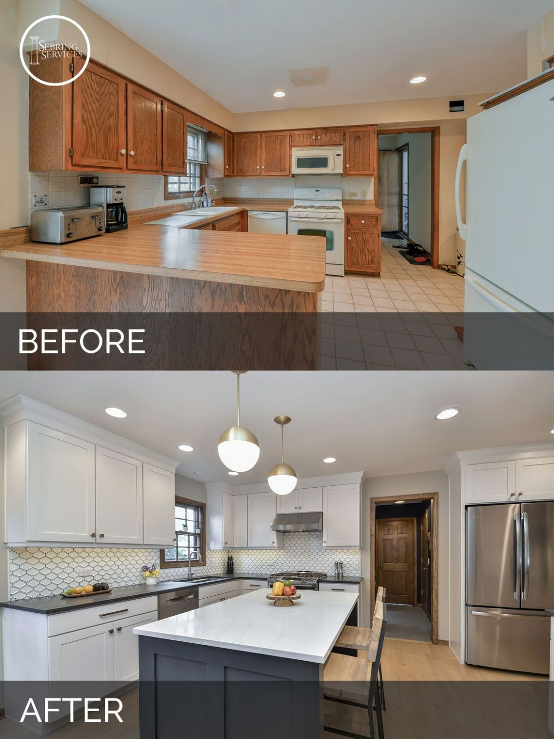 Justin & Carina's Kitchen Before & After Pictures (With images ...