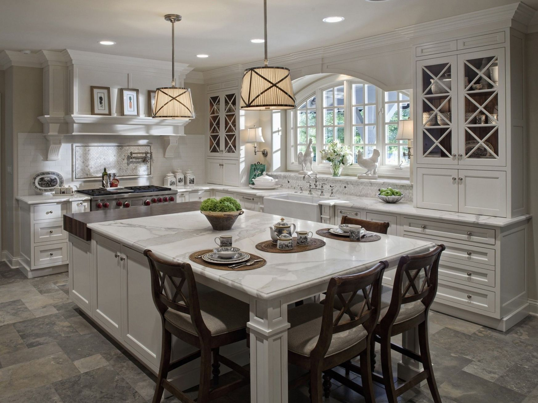 Kitchen:Amazing Design Ideas Of Traditional Kitchen With Rectangle ...