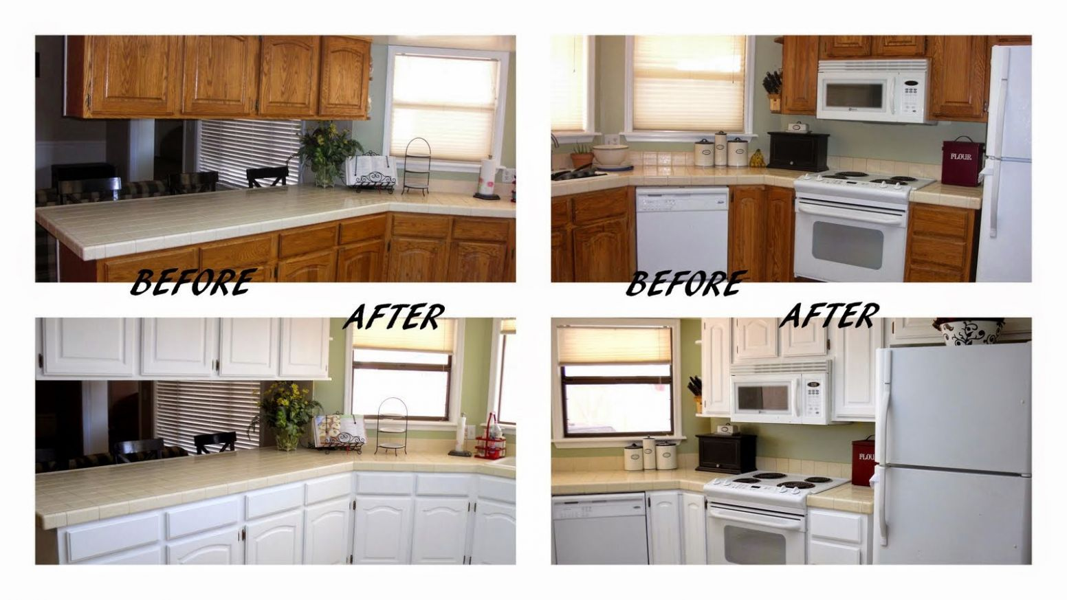 Kitchen Design Ideas Cheap Makeover Before And After L-shaped ..