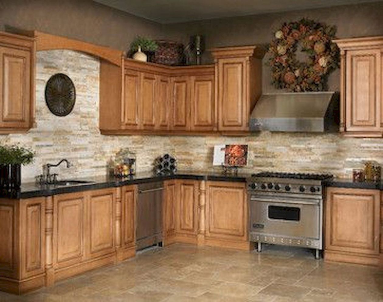 Kitchen Paint Colors With Oak Cabis And Stainless Steel Oak ..