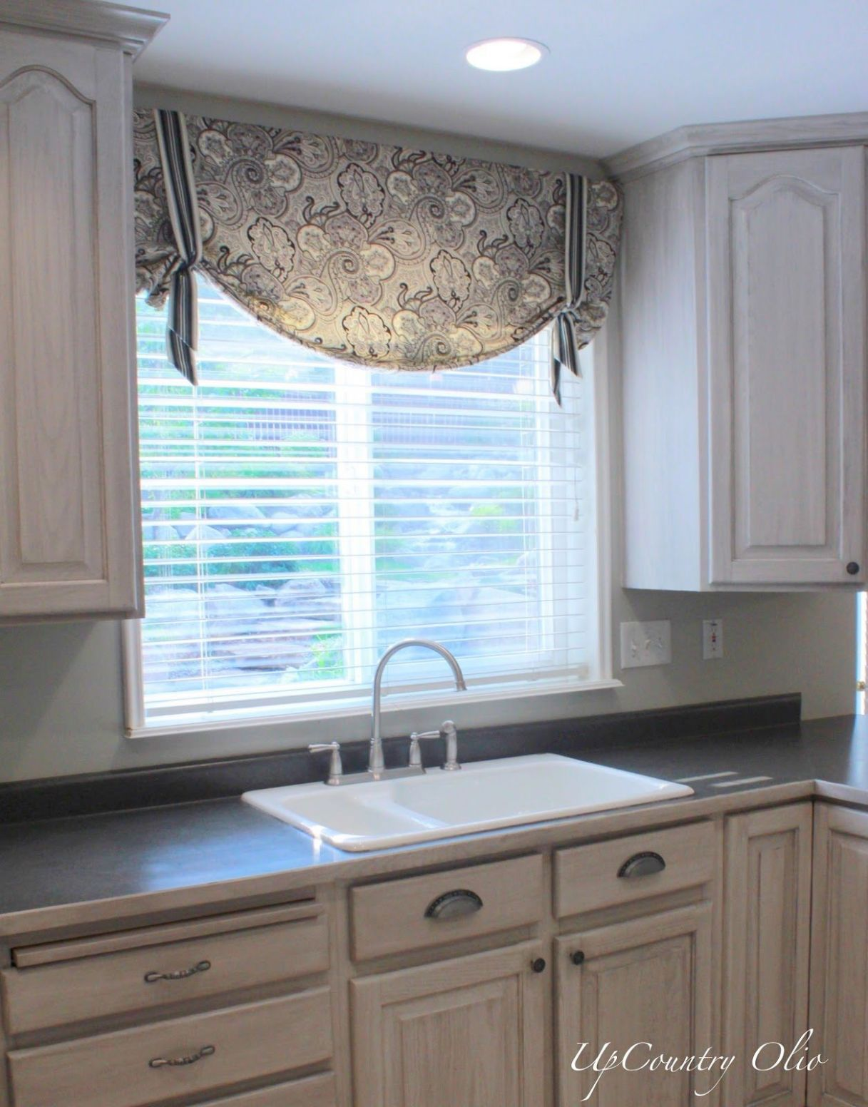 Kitchen valance idea (With images) | Kitchen window coverings ..