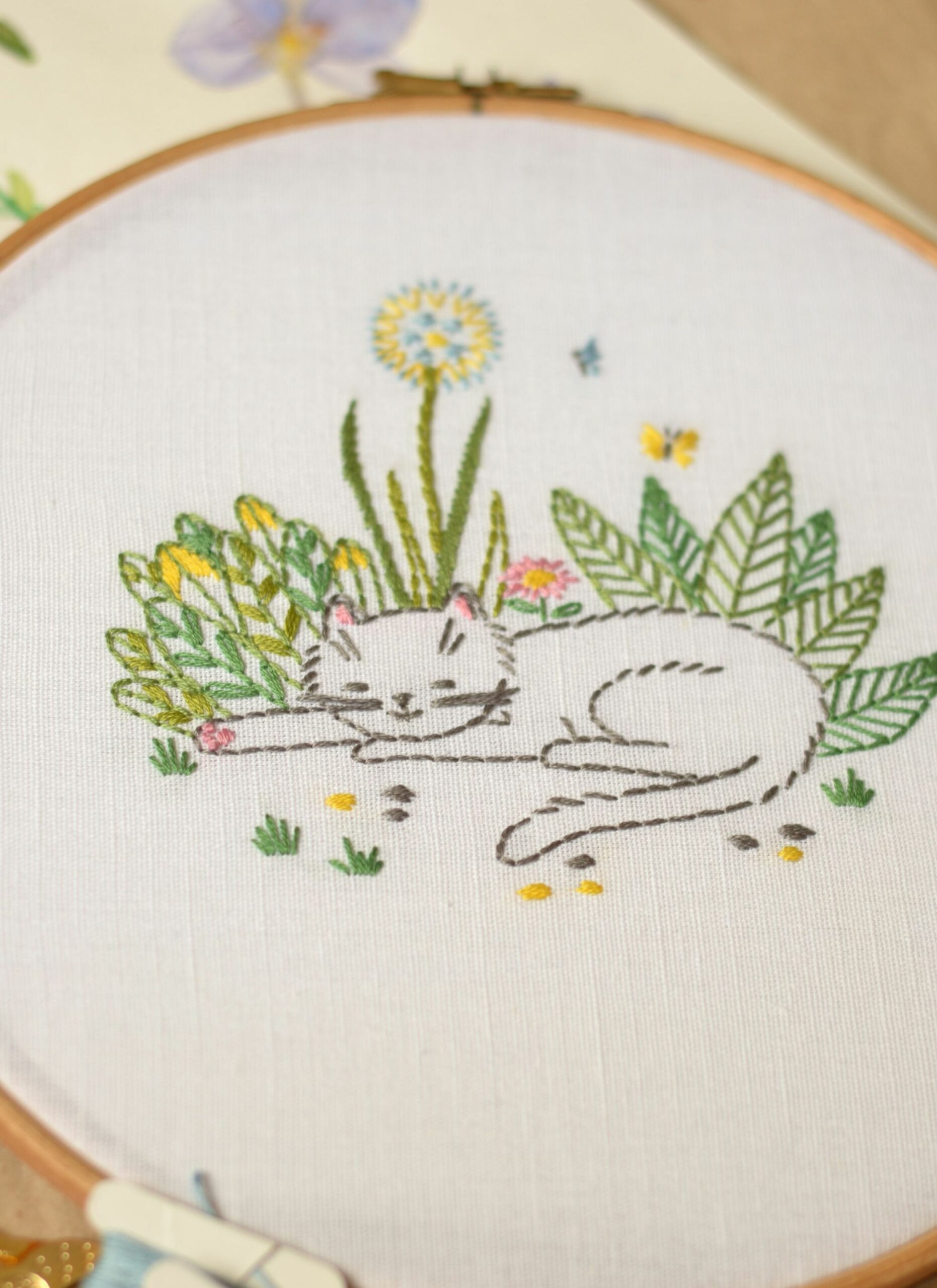 Kitty Embroidery pattern PDF • Cat embroidery design • Instant ..