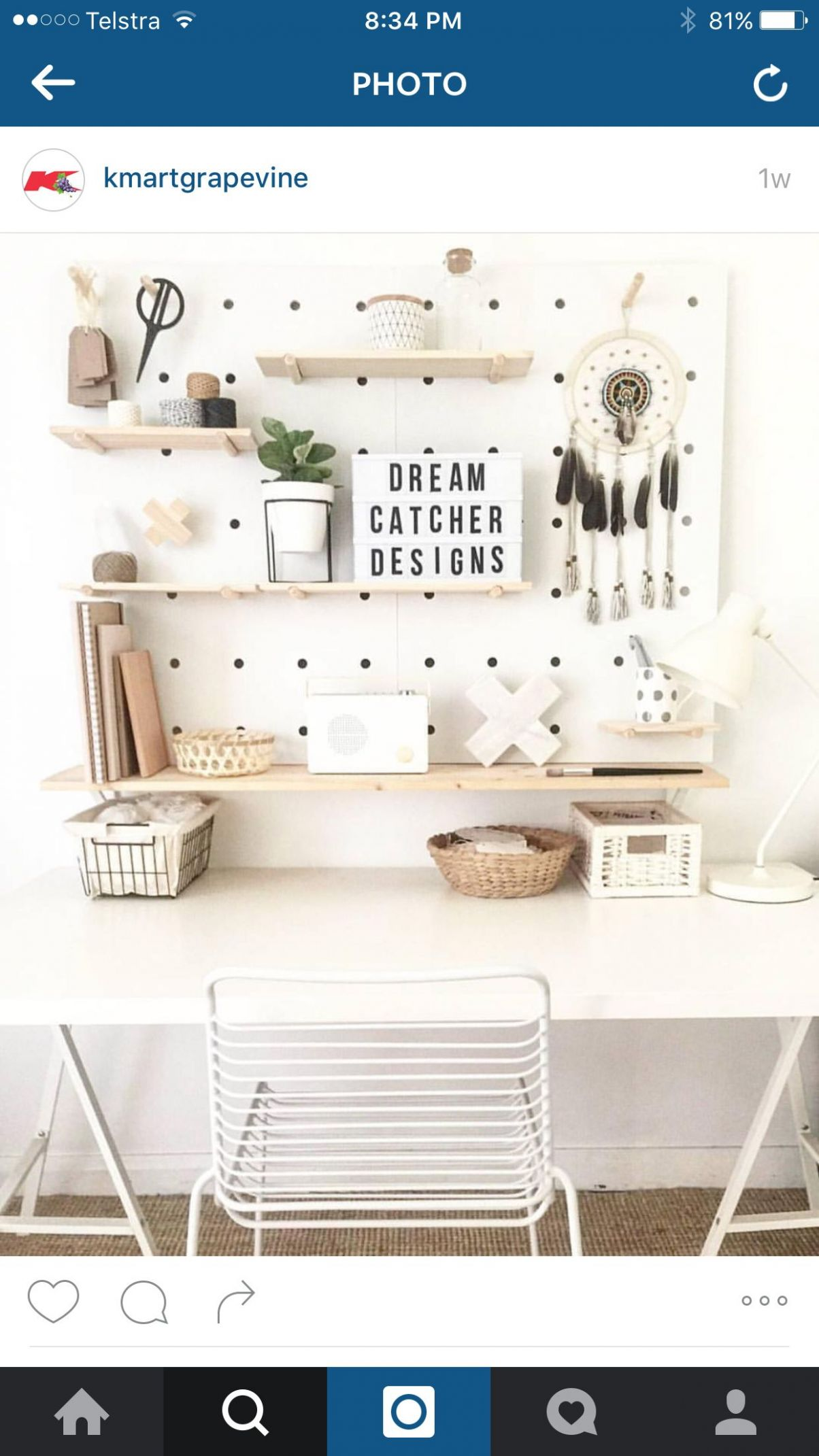 Kmart styling | Kmart decor, Pegboard craft room, Peg board