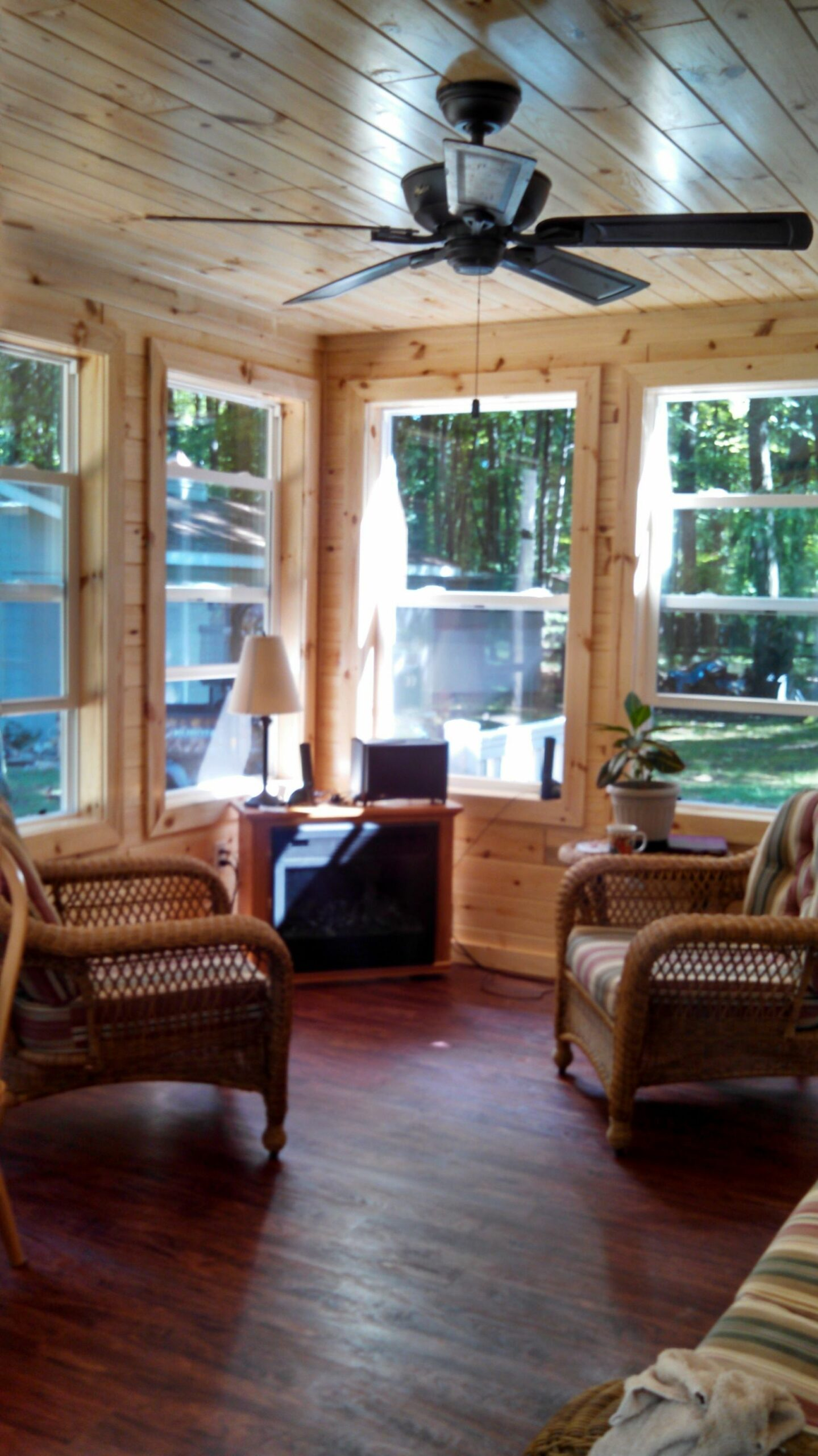 knotty pine sunroom | Small sunroom, Indoor porch, Rustic sunroom - sunroom rustic ideas