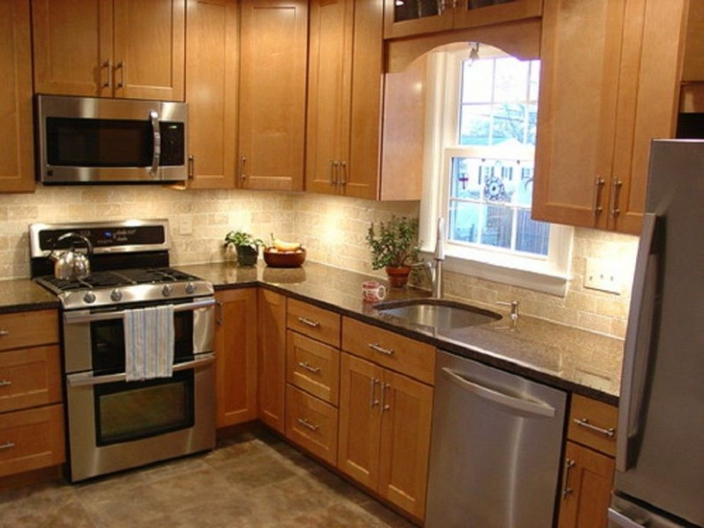 L-Shaped Kitchen For Small Space - Architecture Home Design (With ...