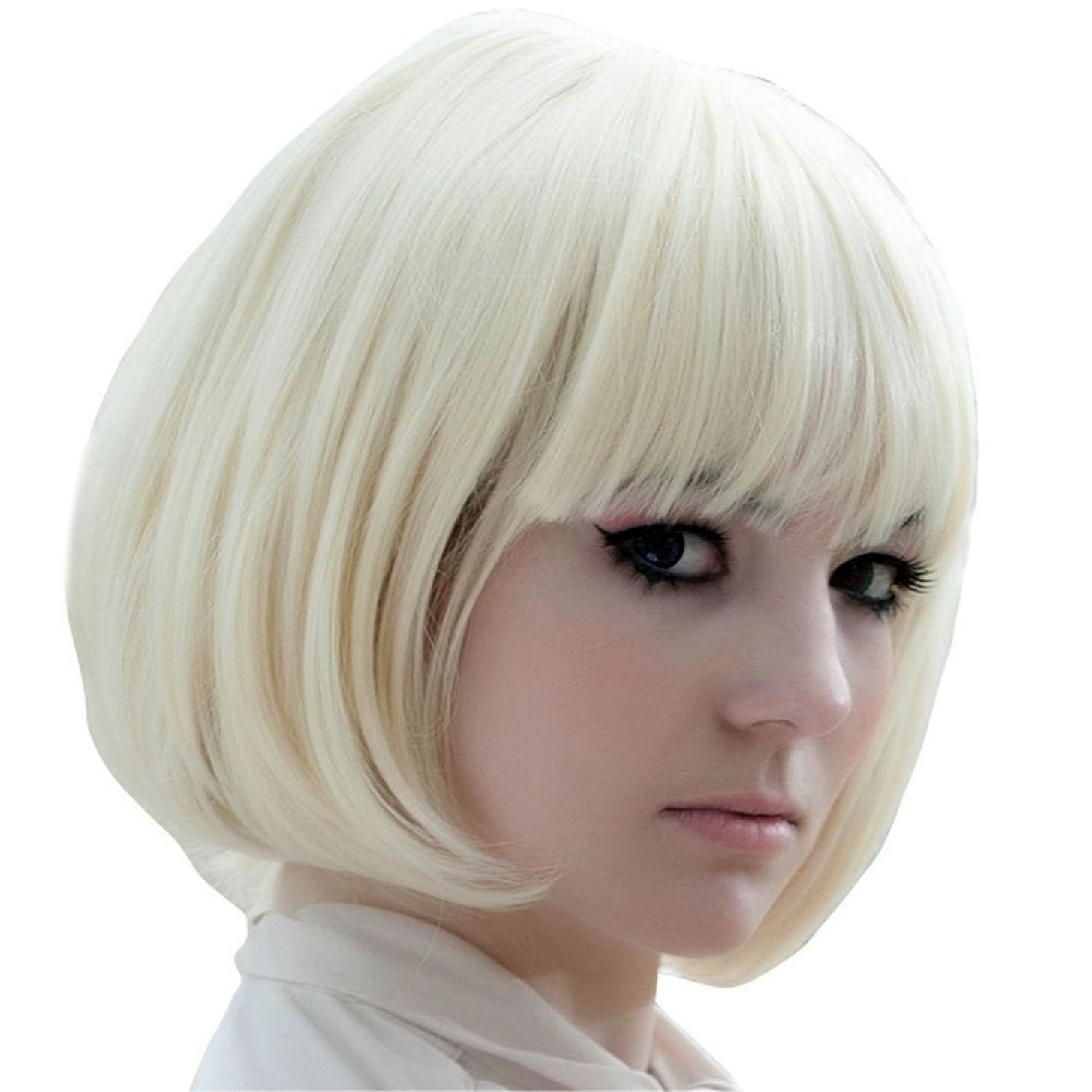 Ladies' Cosplay Fluffy Short Straight BOB Hair Extensions Wig for ...