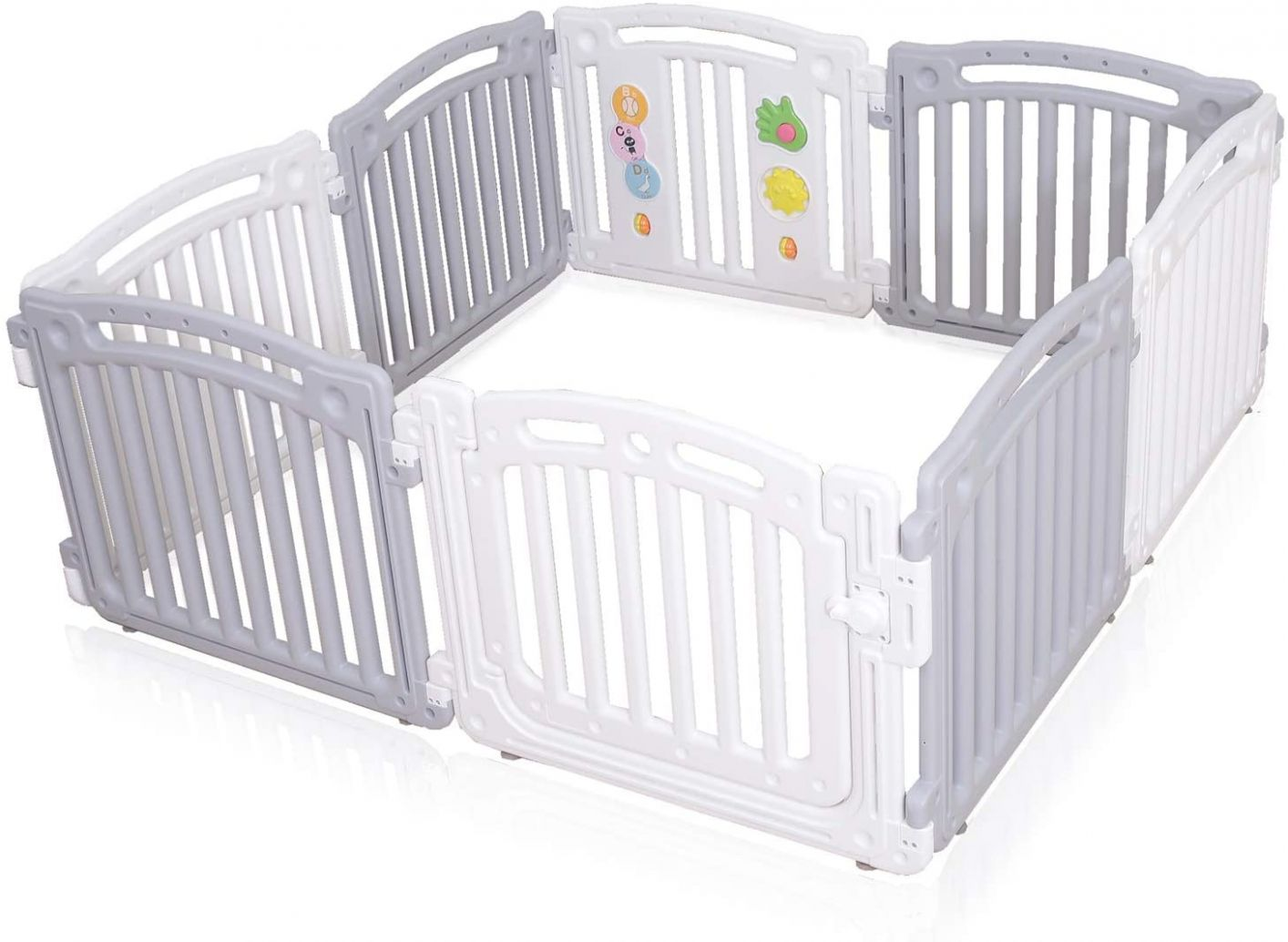 Large 1111 Panels Baby Plastic Playpen Room Divider 1111in11 Child Play ...