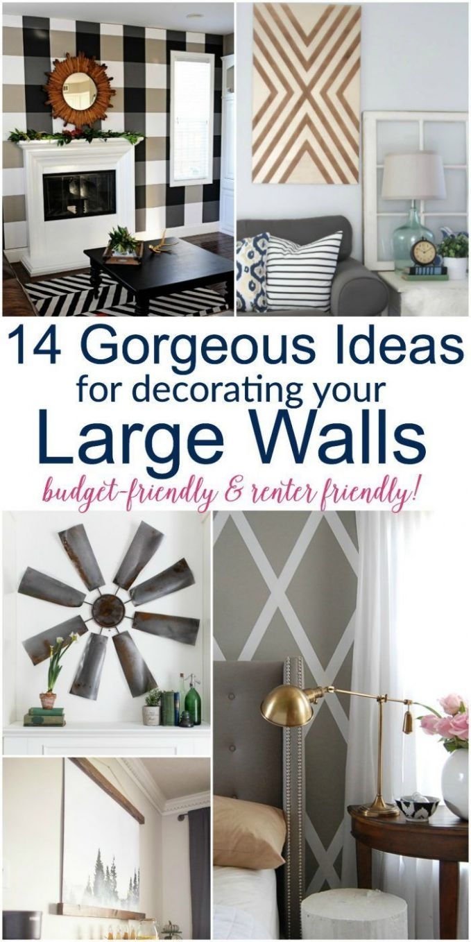 Large DIY Wall Decor Ideas | Wall decor living room, Large wall ...